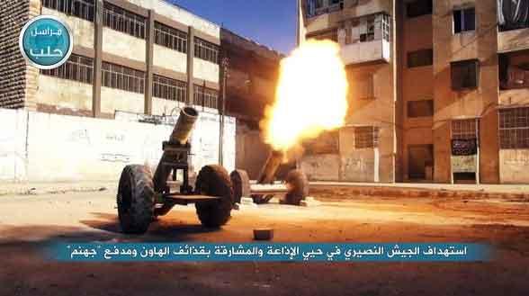 Минометный обстрел позиций Асада