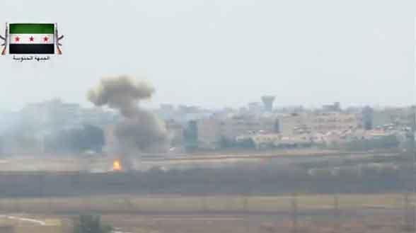 Танк Асада, уничтожен ПТУР