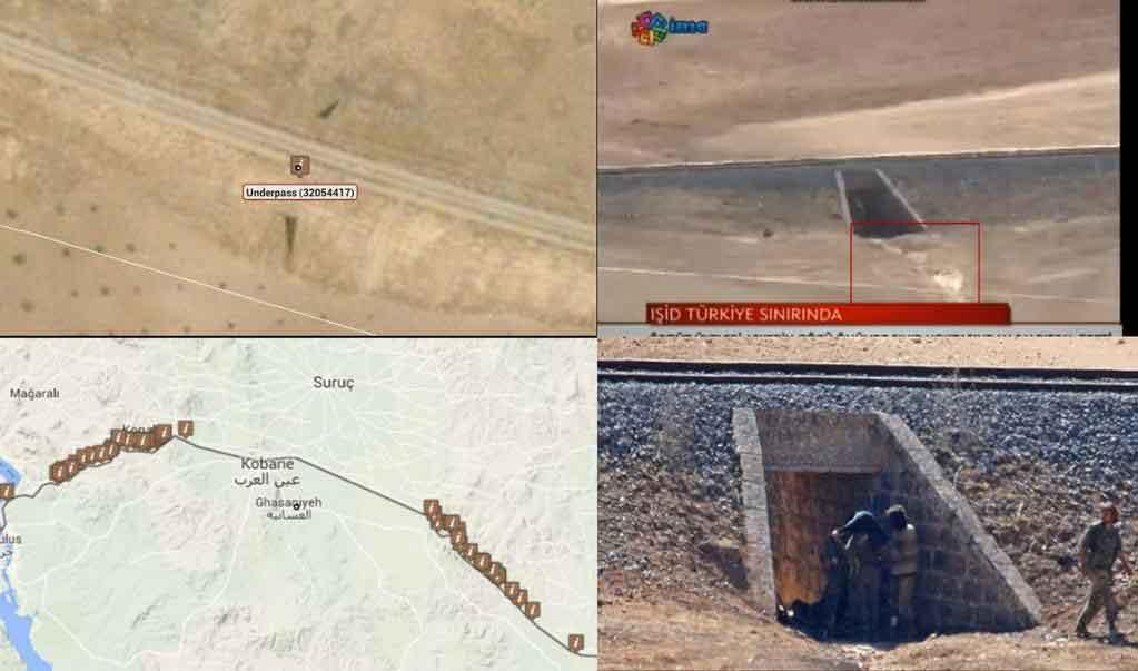 Подземные туннели ИГИЛ возле Кобани