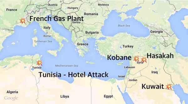 ИГИГЛ наступает, 5-ть атак по всему миру