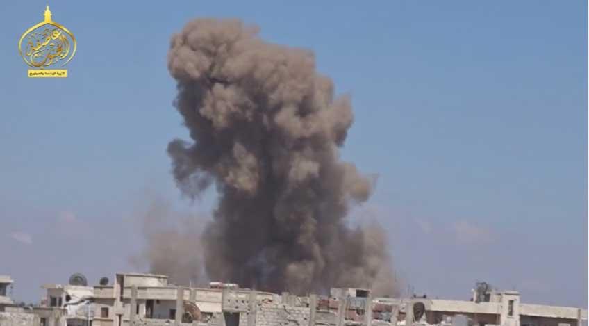 Газо-баллонное оружие новой формы: боевые тактические самодельные ракета, Сирия