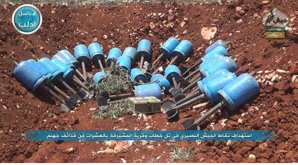 Оружие возмездия от сирийской оппозиции: миномет на основе газового баллона