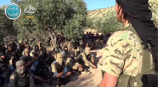 Джаиш Аль Фатх перед началом наступления в провинции Идлиб
