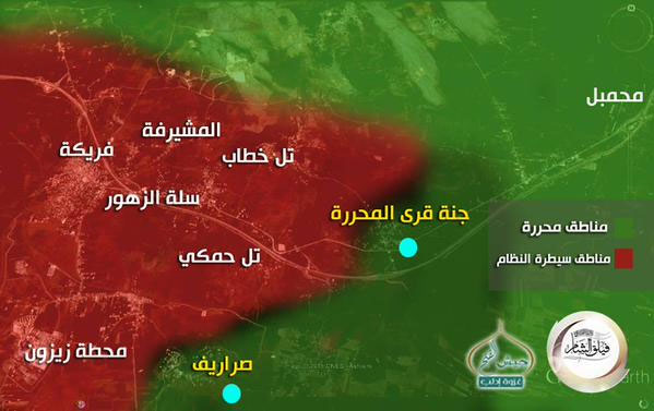 Действительно, наступление оппозиции в провинции Идлиб, идет полным ходом