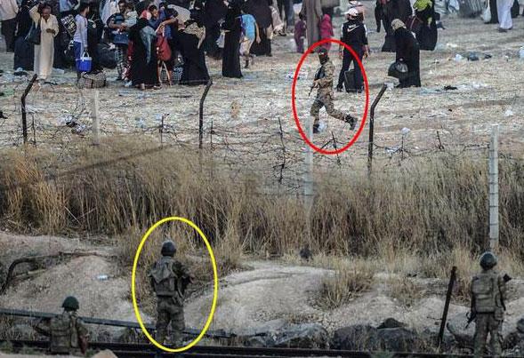 Интересные дела: ИГИЛ загоняет людей обратно в Tal Abyad ?