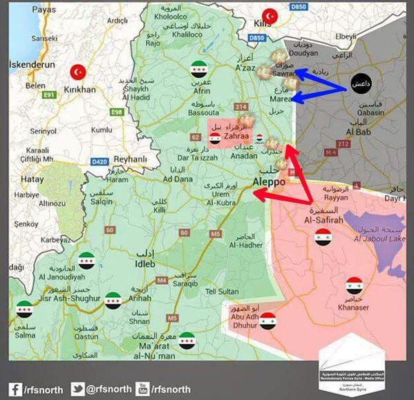 Есть мнение: что ИГИЛ и Асадовцы действуют как союзники, в районе Северней Алеппо.