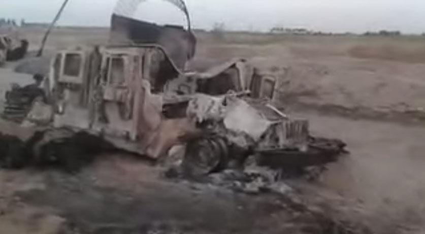 Уничтоженная силами ИГИЛ колона иракской армии в провинции Анбар