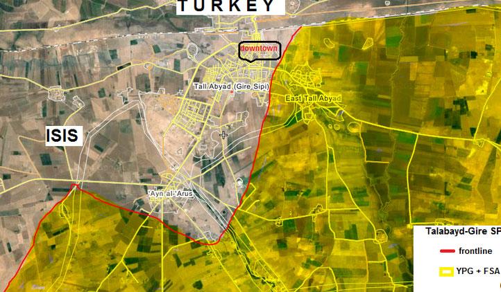 Часть сил ИГ отступила от Tel Abyad
