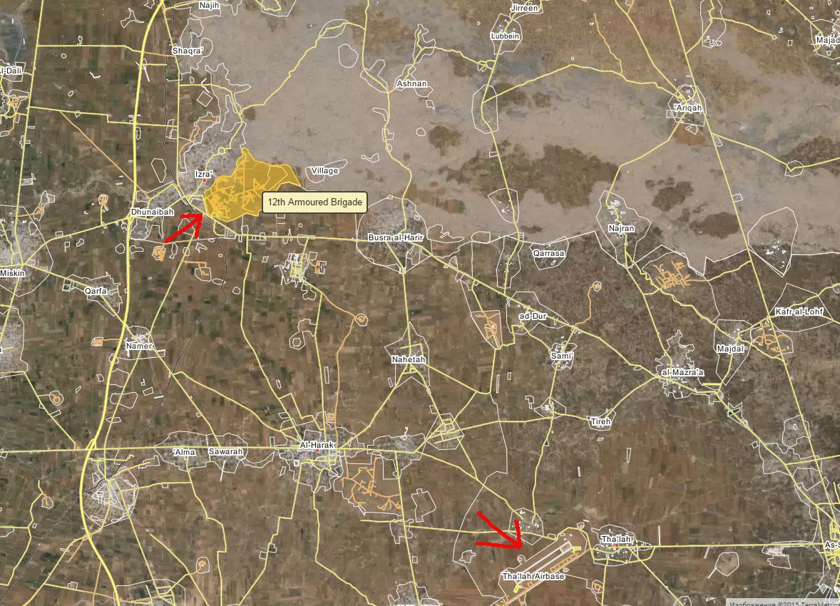 Дополнительная цель в наступлении в районе Дараа: 12-я бронетанковая бригада