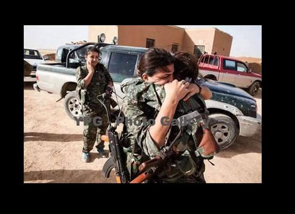 Два курдских фронта встретились в районе Tal Abyad