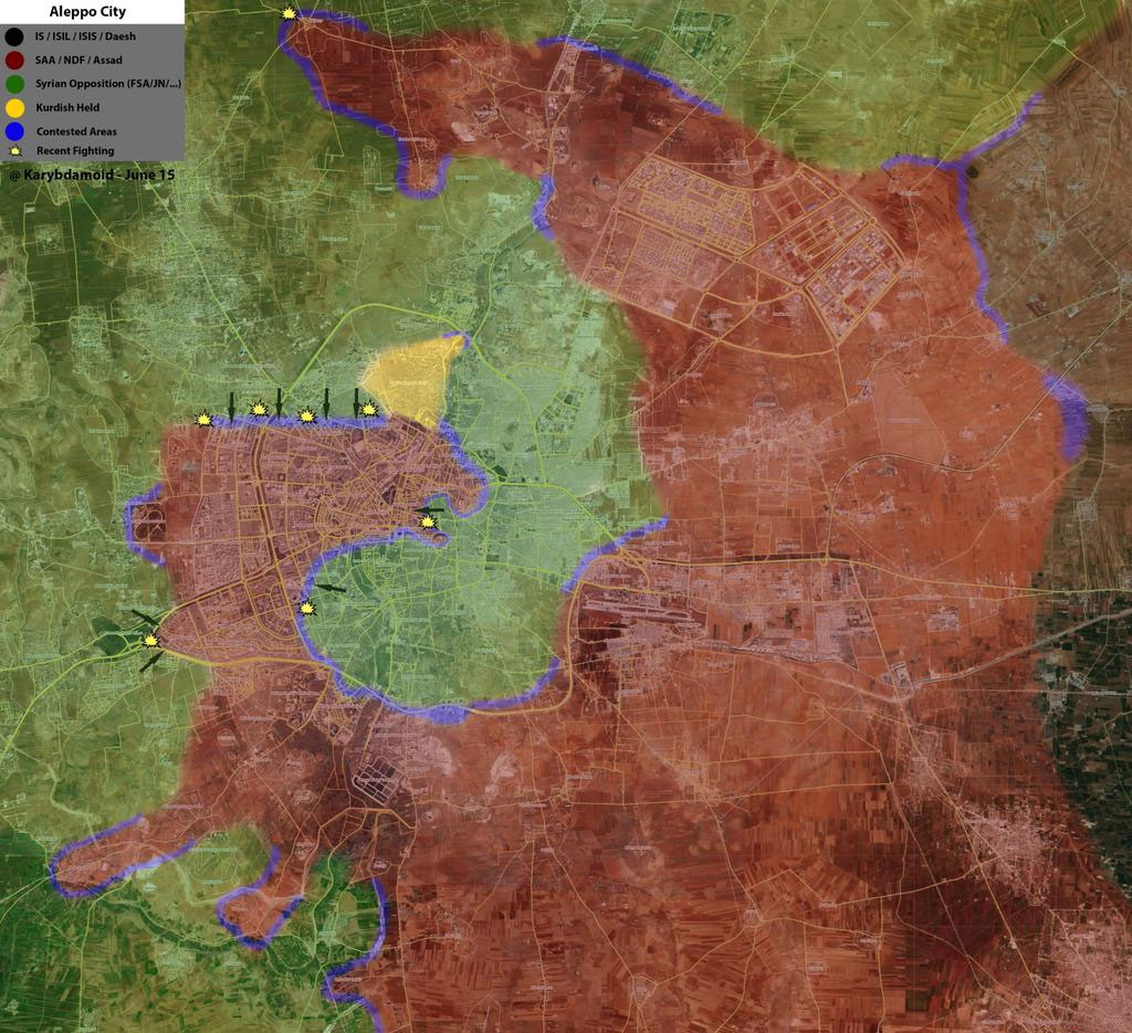 Силы оппозиции перешли в крупное наступление в Алеппо