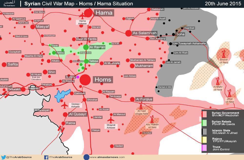 Ситуация в провинции Хомс (Сирия) на 21.06.2015