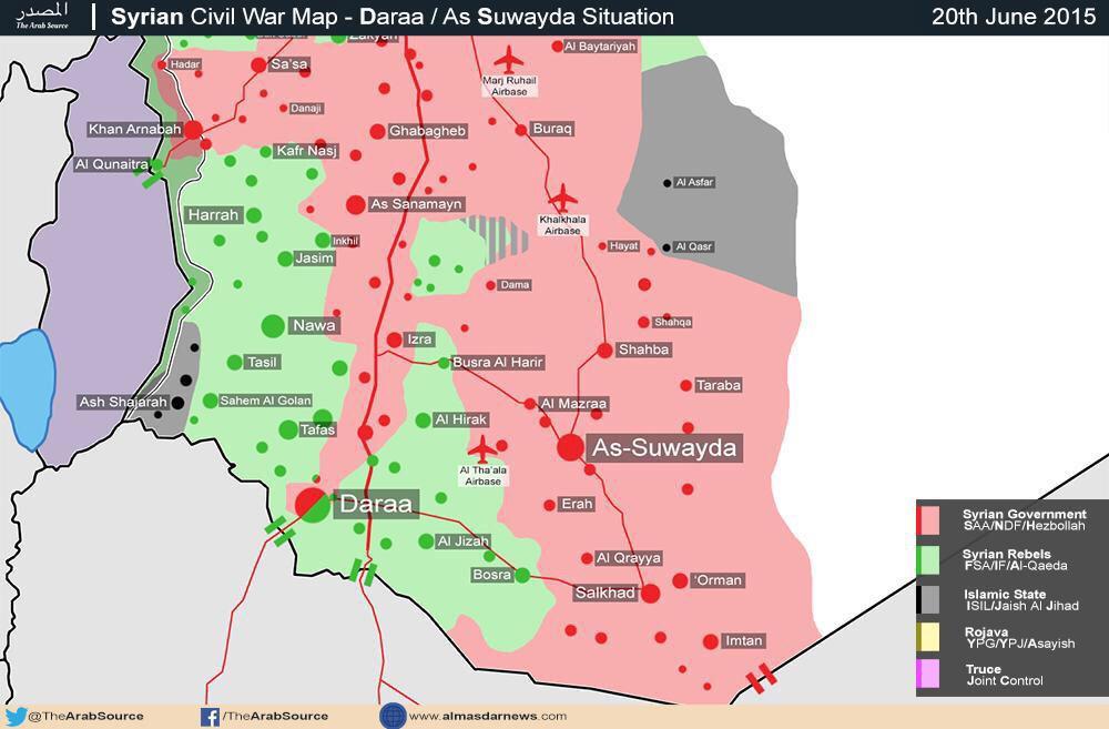 Ситуация в провинции Дараа (Сирия) на 21.06.2015