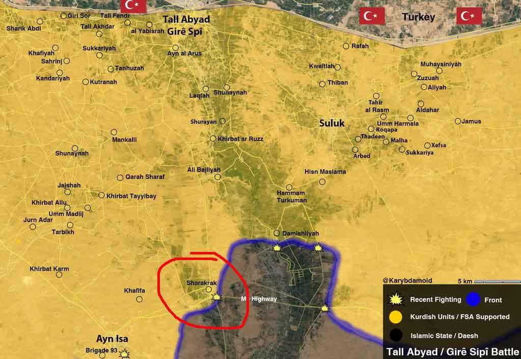 Новый успех FSA и YPG: захвачен Sharakrak