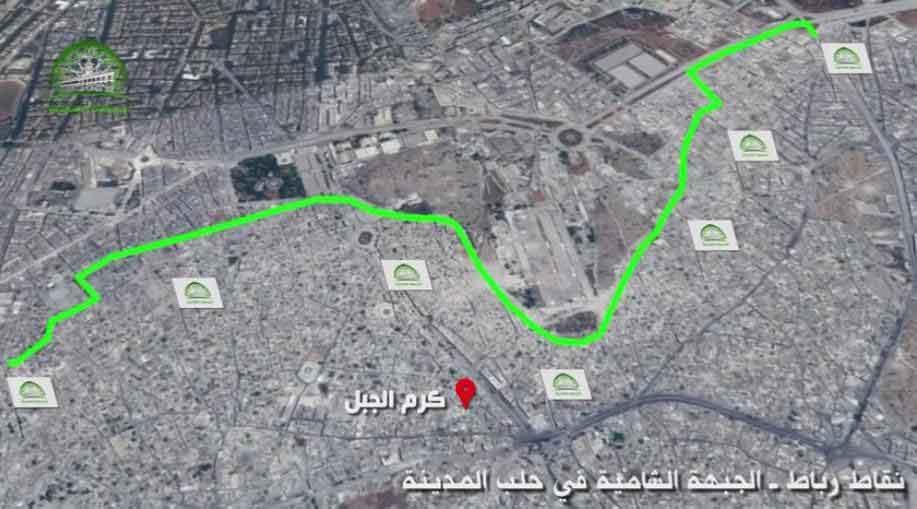 Алеппо, линия фронта возле казарм  Ханано (одна из ключевых позиций Асада)
