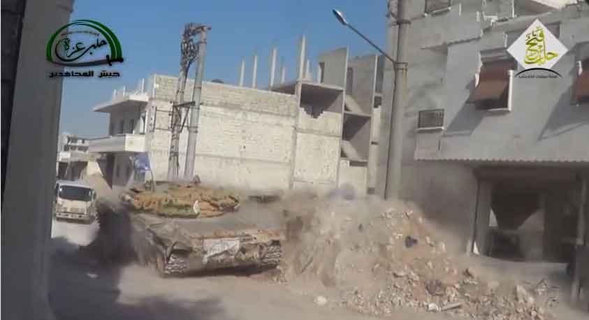 Алеппо, танки оппозиции.. оппозиция в наступлении