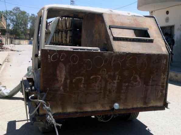 автомобиль ИГИЛ для атак боевиков самоубийц