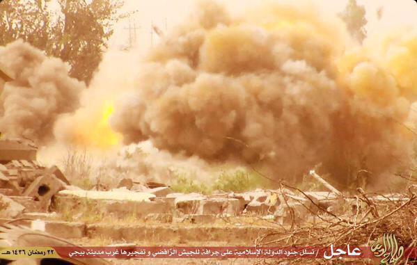 Против Бульдозерная война ИГИЛ в Байджи