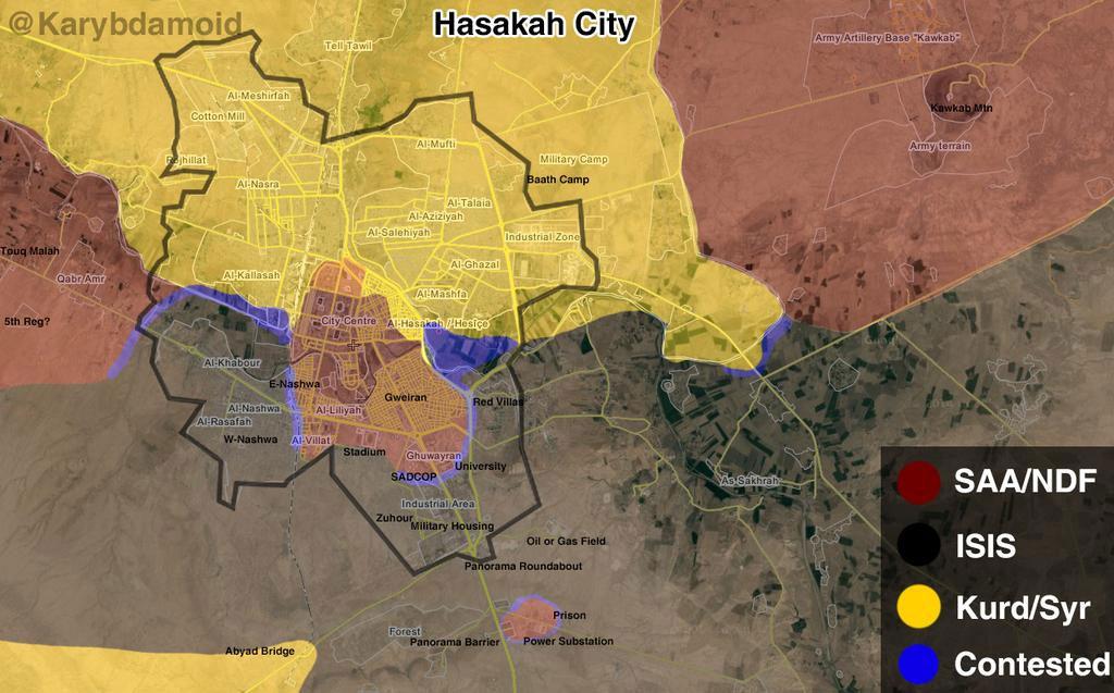 Хасака, очертание города и расположение сторон