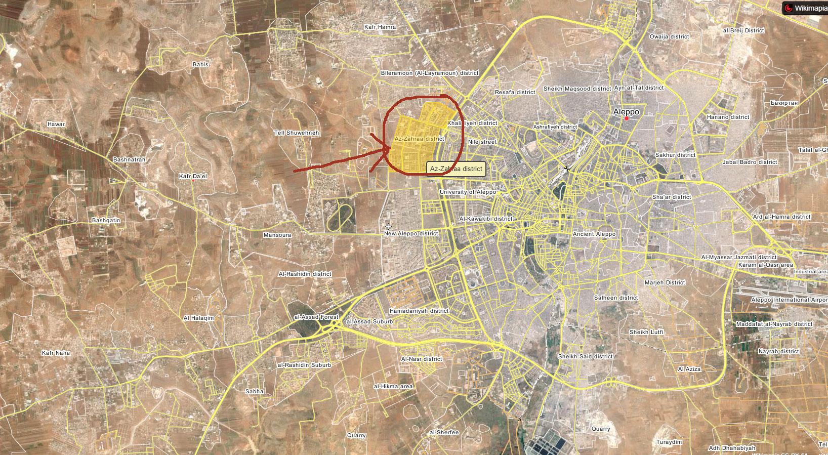 Ад в аль-Захра, Западная часть, города Алеппо