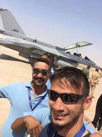 Первая партия многоцелевых самолетов F-16 прибыли в Аль-Балад, Ирак
