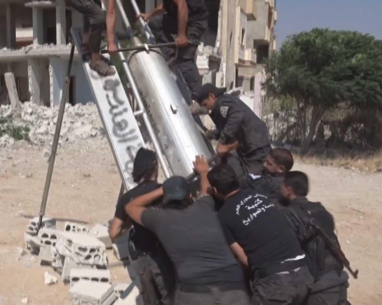 Газо-баллонное оружие: установка и ракета Дараа, Сирия