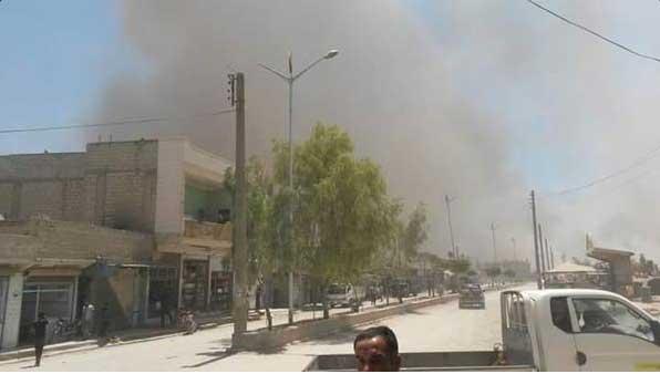 Взрывы в городе Кобани, Сирия