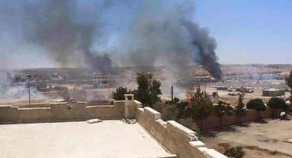 Взрывы в городе Кобани носят массовый характер..