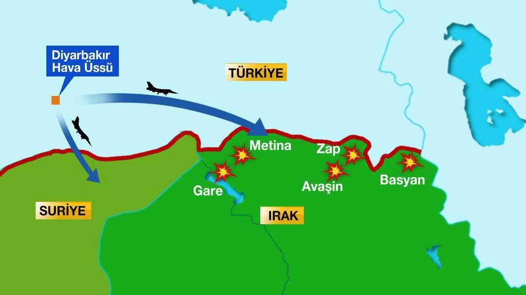 Турецкая авиация отработала по целями в Северном Ираке: цель курдская РПК