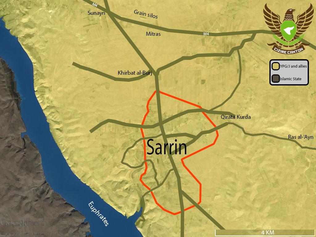 YPG и FSA захватили город Сарин, который стоит на пути к столице ИГ Ракка
