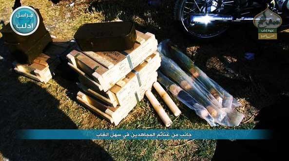 Трофеи оппозиции с захваченных территорий в провинции