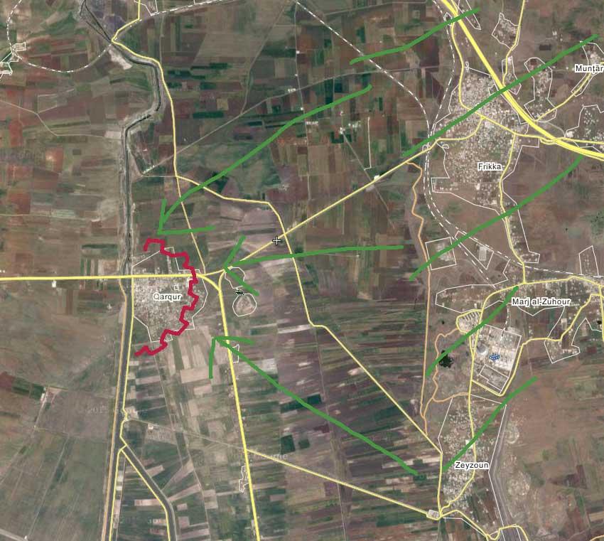 Ближайшая цель повстанцев в Идлибе, городок Qarqur