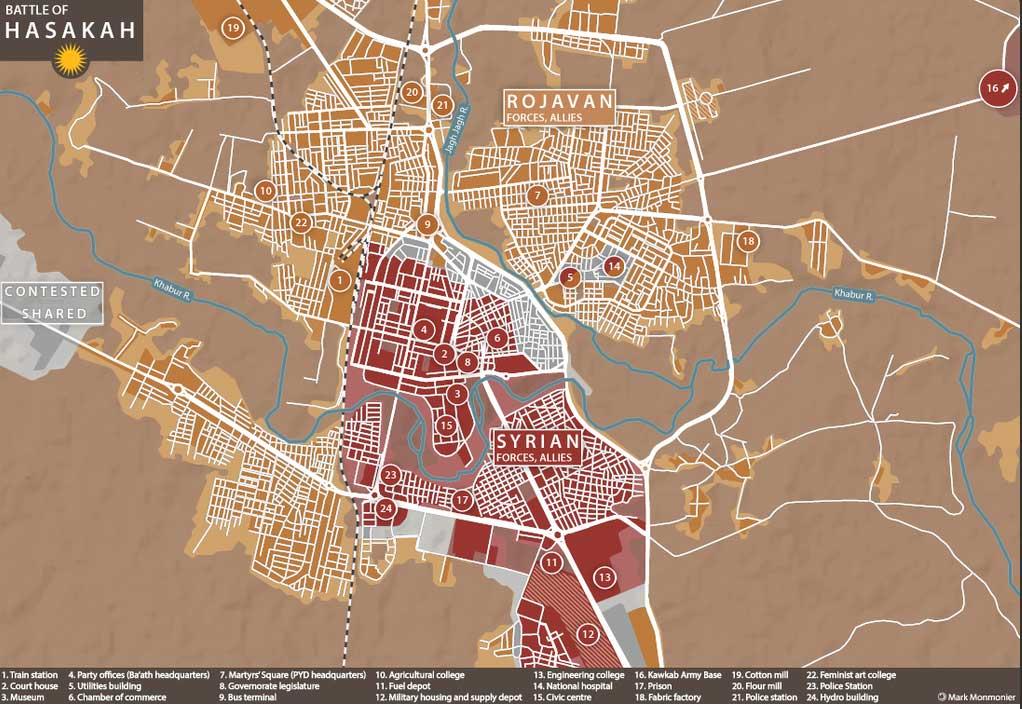 Хасака перешла под контроль сил Асада и YPG
