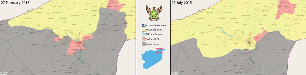 Изменение расстановки сил в городе Хасака, Сирия