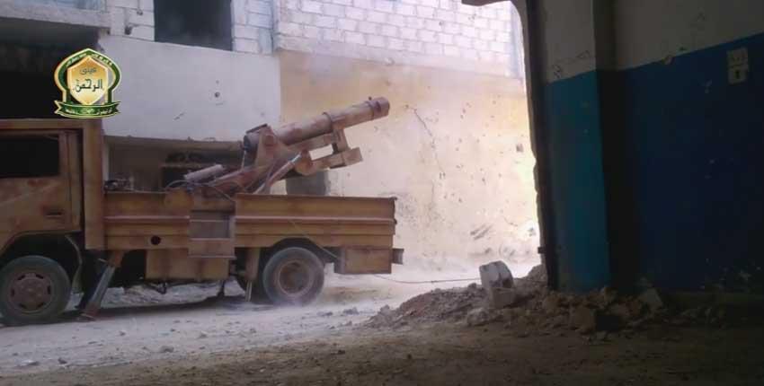 Минометная транспортирующая система, Дамаск Сирия