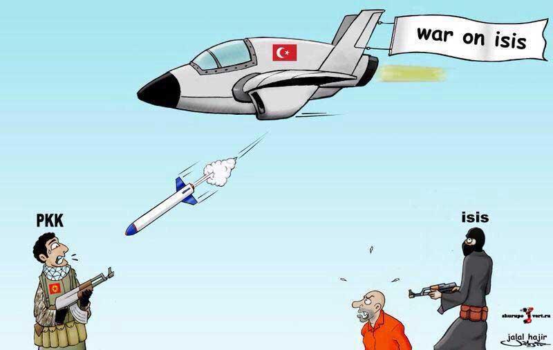 Как видеться курдам операция Турции против ИГИЛ и РПК