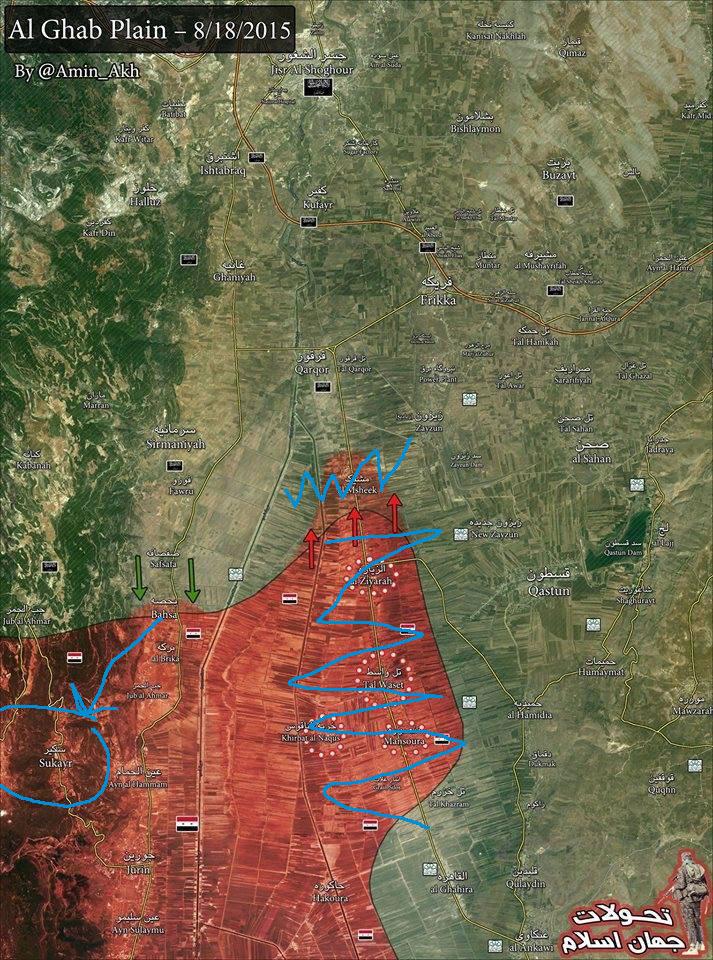 Третье контрнаступление сил Асада на равнине Габ, Идлиб