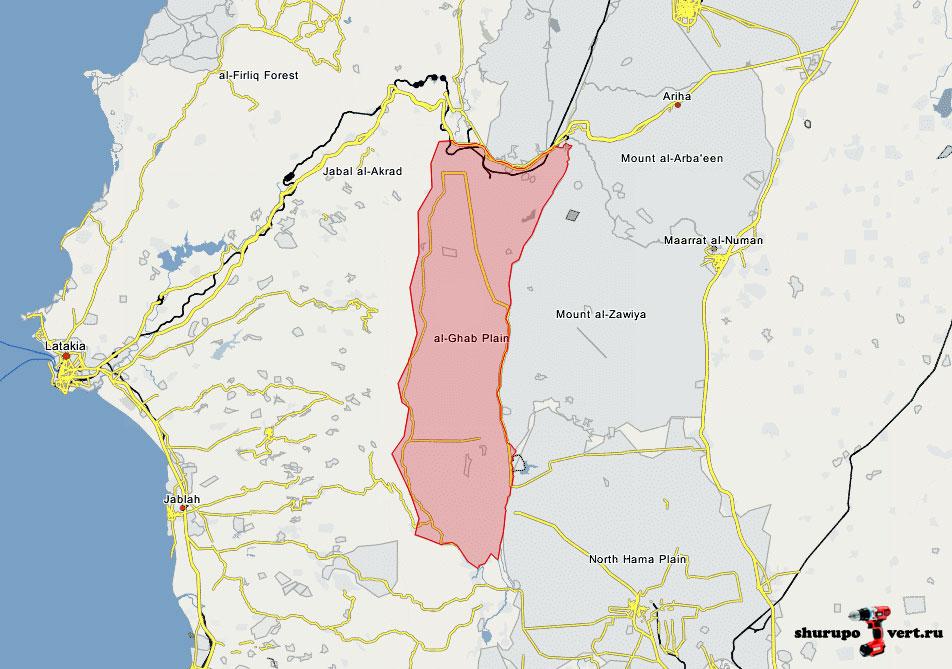 Самые ожесточенные бои в Сирии на этой недели: Равнина Габ