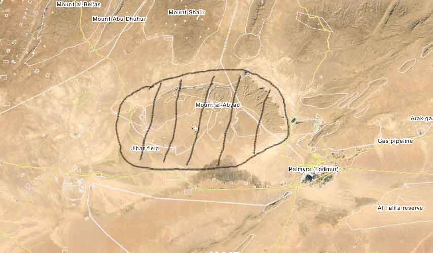Месторождение Jazal, возле города Пальмира, снова под контролем ИГИЛ