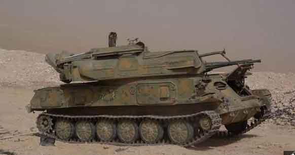 Шилка брошенная Асадовцами во время наступления ИГИЛ на месторождение Джазаль