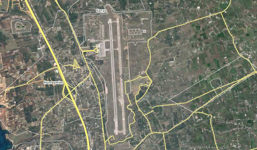 Военный аэродром Bassel al Assad, провинции Латакия