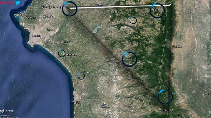 Повышенная активность (коммуникационные антенны и пр.) с началам ввода сил РФ на территорию Сирии