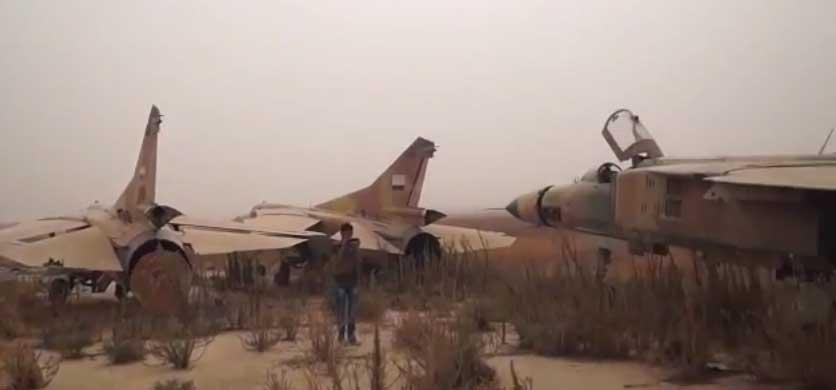 Трофеи взятые оппозицией после захвата аэродрома Абу Дахур