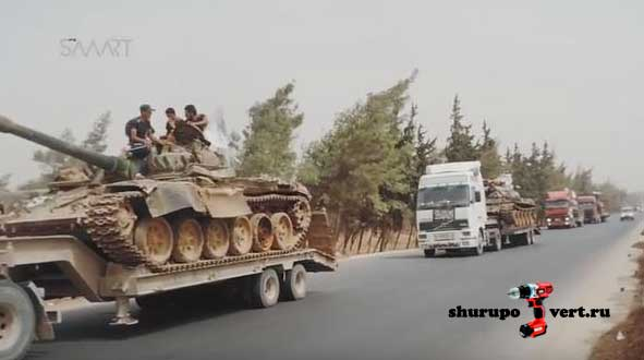 Колоны повстанцев двинулись от Абу Дахур к последнему анклаву асадистов Фах и Кафрея в провинции Идлиб, Сирия