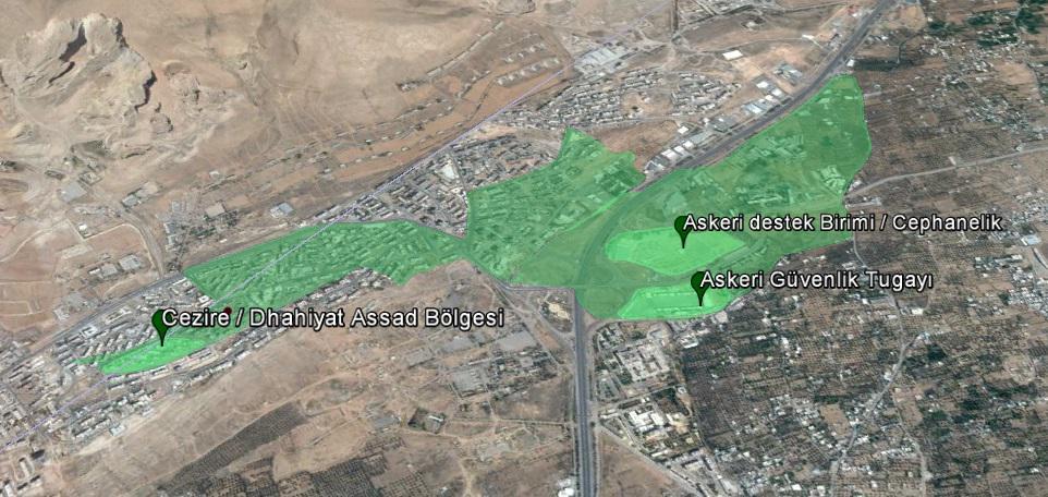 Захваченные территории в пригороде Дамаска