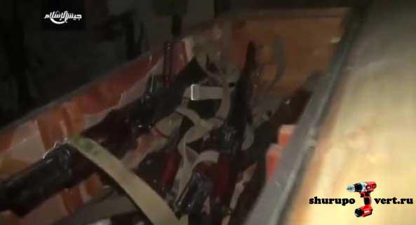 Трофеи оппозиции после наступление в пригороде Дамаска