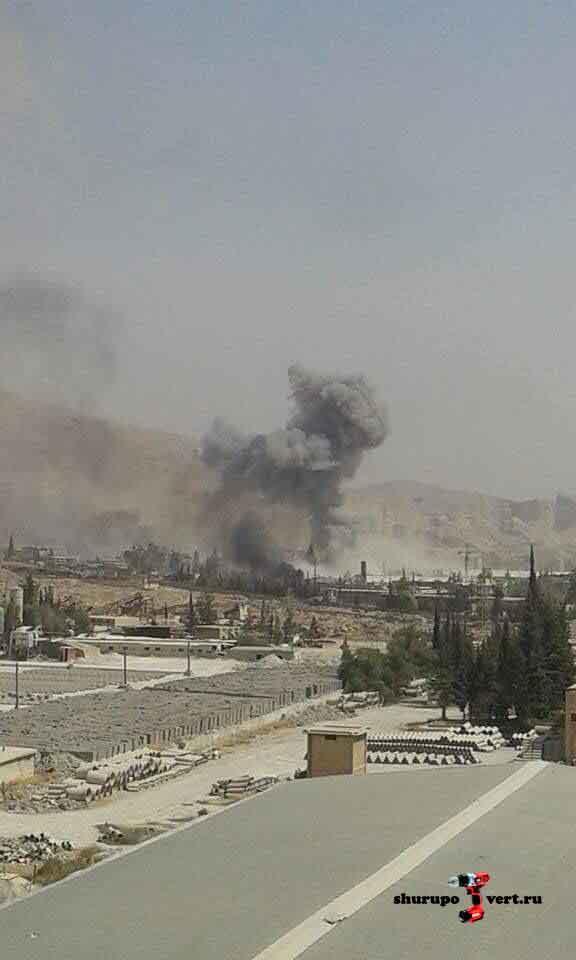 Асадисты бомбят Забадани и Восточную Гуту