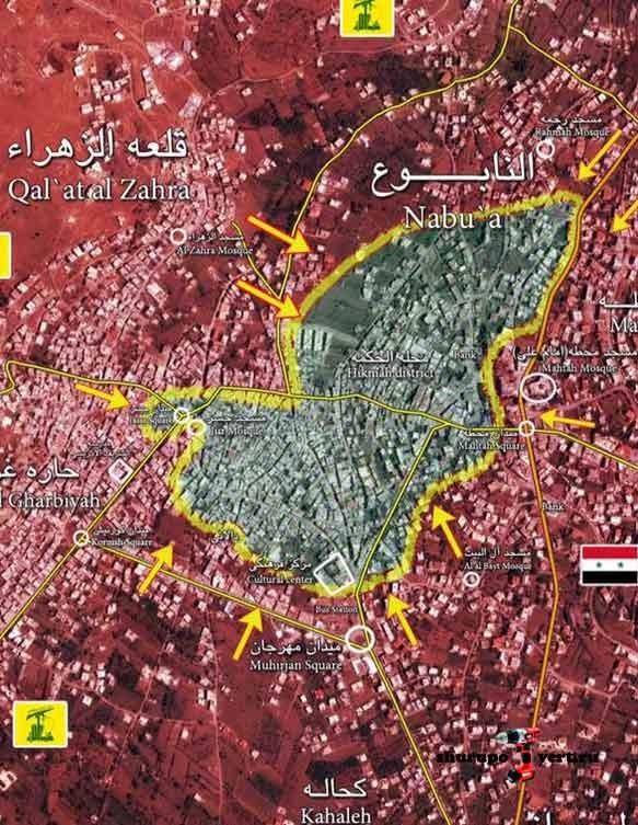 Забадани, Сирия, карта расстановки сил... штурм продолжается уже который месяц