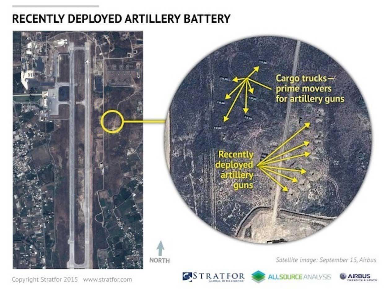 Новые артиллерийские позиции, фронт наступающих оппозиционеров уже рядом (Bassel al Assad, провинции Латакия)