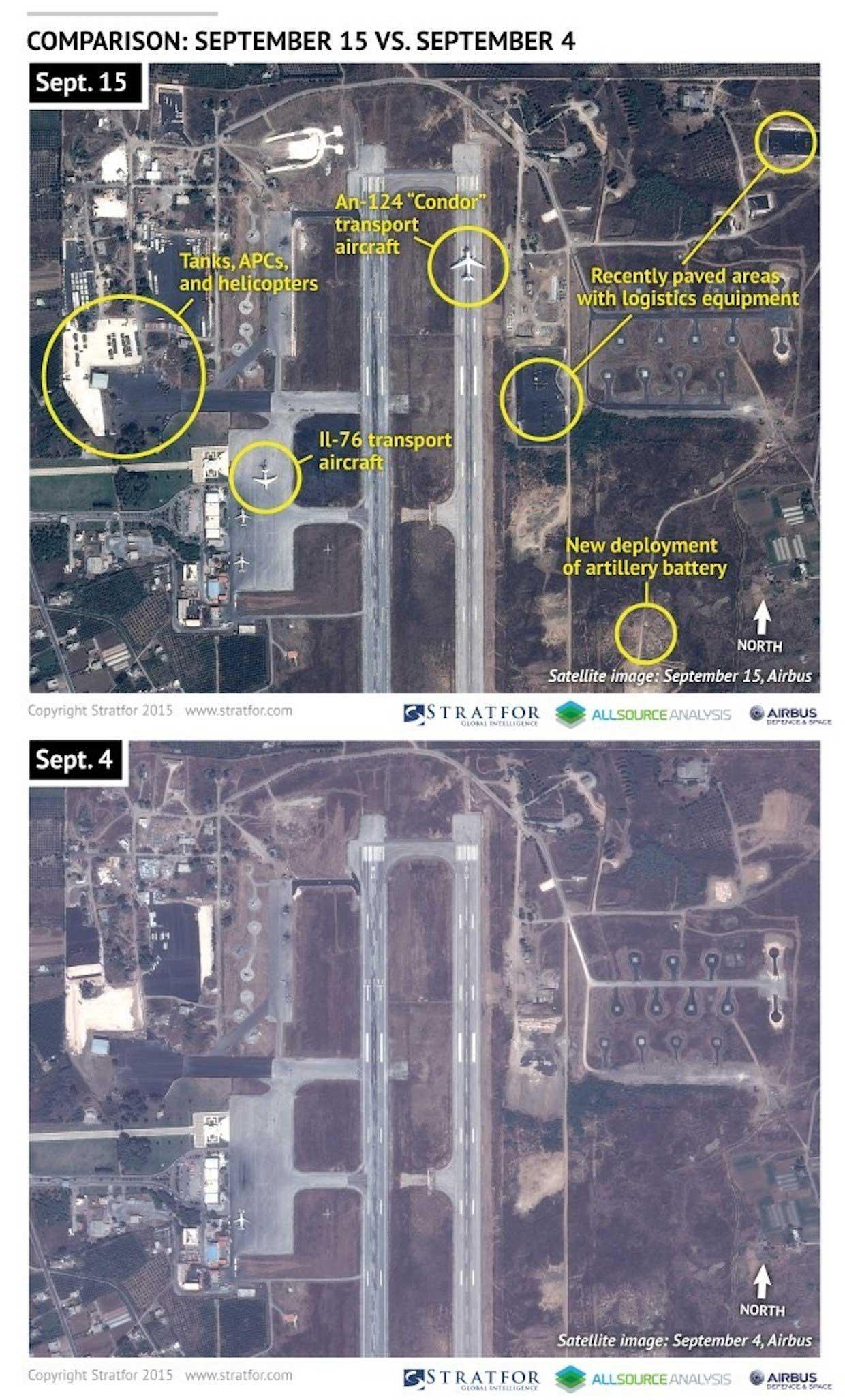 Первая фота: общий план базы РФ (Bassel al Assad, провинции Латакия)